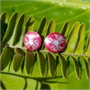 Alum Pohutukawa Studs Ruby-jewellery-The Vault
