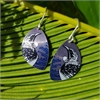 Alum Native Tui Hook Earrings Charcoal -jewellery-The Vault