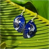 Alum Native Tui Hook Earrings Indigo-jewellery-The Vault