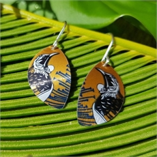 Alum Native Tui Hook Earrings Mustard-jewellery-The Vault