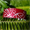 Alum Cuff Narrow Koru Poh Ruby-jewellery-The Vault