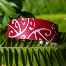 Alum Cuff Narrow Koru Poh Ruby-new-The Vault