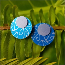Alum Koru Double Studs Azure-jewellery-The Vault