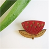 Pohutukawa Brooch  -jewellery-The Vault