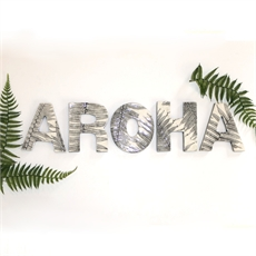 AROHA Ceramic Letter Set Black Fern-home-The Vault