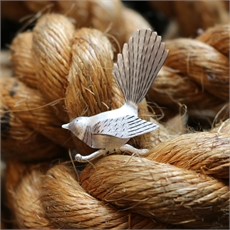Fantail Brooch Silver-jewellery-The Vault