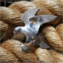 NZ Falcon Brooch Silver