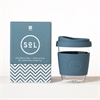 Sol Cup 12oz Blown Glass Blue Stone-home-The Vault