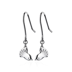 Silver Fantail Earrings-jewellery-The Vault