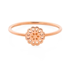 Lotus Ring 9ct Rose Gold Size M-jewellery-The Vault