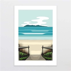 Waihi Beach A4 Print-artists-and-brands-The Vault
