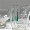 Glass Eardrops Opaque Green-jewellery-The Vault