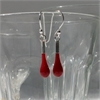 Glass Eardrops Opaque Red-jewellery-The Vault