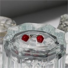 Faceted Studs Red-jewellery-The Vault