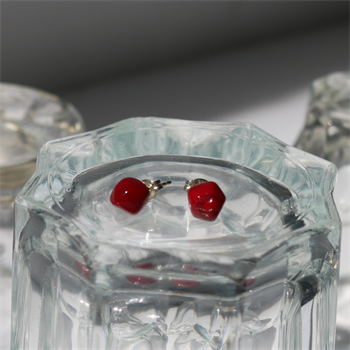 Faceted Studs Red