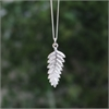 Small Fern Pendant Silver-jewellery-The Vault