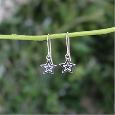 Star Earrings Swing Hook Silver-new-The Vault