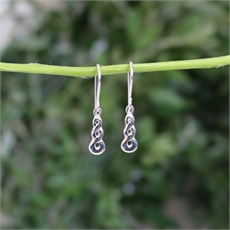 Triple Twist Earrings Swing Hook Silver-new-The Vault