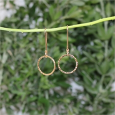 Textured Hoop Earrings 14kt Gold Plate-new-The Vault