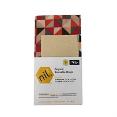 Organic Beeswax Food Wrap 2pk Tukutuku-new-The Vault