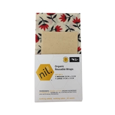 Organic Beeswax Food Wrap 2pk Pohutukawa-new-The Vault