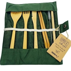 Eco Cutlery Set Olive-new-The Vault