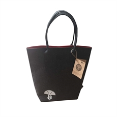 Pohutukawa Red & Grey Shoulder Tote-for-her-The Vault