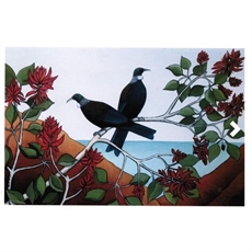 Tui in the Flame Tree Card-cards-The Vault
