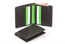 Credit Card Wallet  Black Green  -wallets-and-bags-The Vault