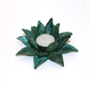 Flower Candle Holder Med Green Patina -home-The Vault
