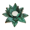 Flower Candle Holder Lrg Green Patina-home-The Vault
