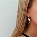 Beetle Horn Earrings Silver