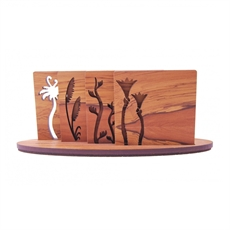 Rimu Icon Coasters w Stand Flora-artists-and-brands-The Vault