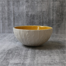 Kowhai Mustard Natural 12cm Bowl-home-The Vault