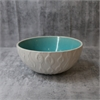Kowhai Turquoise Crackle 12cm Bowl-home-The Vault