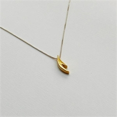 Small Antler Necklace Gold Plate-jewellery-The Vault