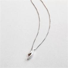 Small Antler Necklace Silver-jewellery-The Vault