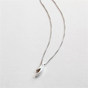 Small Antler Necklace Silver