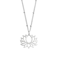 Emergence Silver Lotus Flower Necklace-jewellery-The Vault
