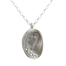 Paua Pendant Silver -jewellery-The Vault