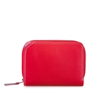 Small Wallet w Zip Purse Ruby
