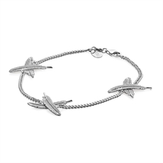 Feather Kisses Bracelet Silver-jewellery-The Vault