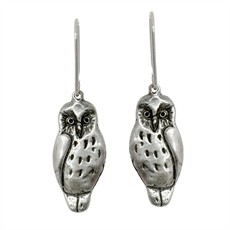 Ruru Earrings Silver -jewellery-The Vault