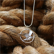 Circle Tern Pendant Silver Small -jewellery-The Vault