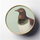 Hushed Green Kereru Clock