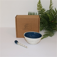 Boxed Swirl Bowl & Spoon Southers Seas-home-The Vault