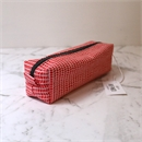 Box Pencil/Makeup Case Red Geo