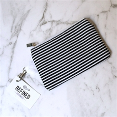Mini Pouch Black Stripes-new-The Vault