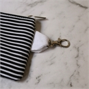 Mini Pouch Black Stripes