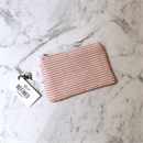 Mini Pouch Pink Stripes